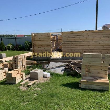 Строительство дома-гаража в д. Бабурино Киржачского района