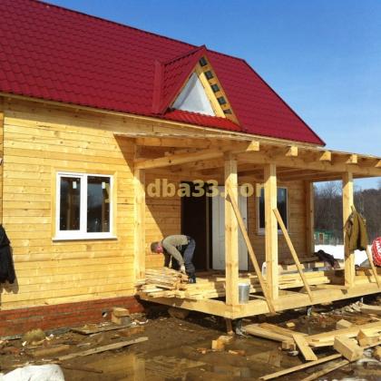 Строительство дома из профилированного бруса по адресу Кольчугинский район, д. Красная Гора
