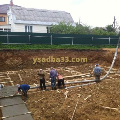 Строительство коттеджа по адресу г. Кольчугино, ул. Шмидта
